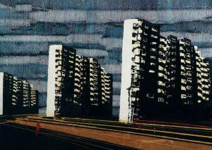 Gradovi 3 / kombinirana tehnika / 105x150 cm / 2003.