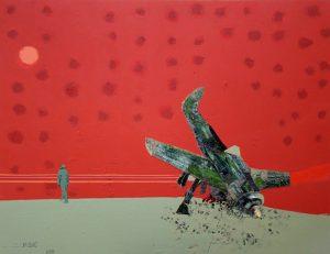 Crash / kombinirana tehnika / 105x130 cm / 2009.