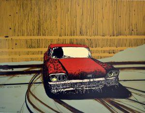 Rust Never Sleeps 9 / kombinirana tehnika / 100 x 130 cm / 2015.